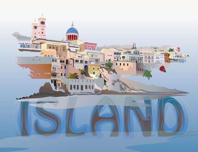 Une île illustration