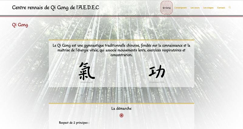site du centre rennais de qi gong de l'AEDEC Manou B. web design