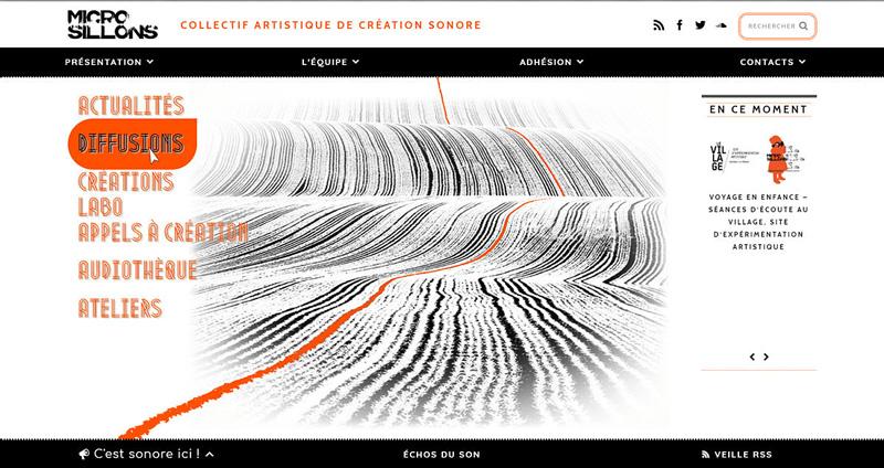 micro-sillons_site Manou B. graphisme & web design
